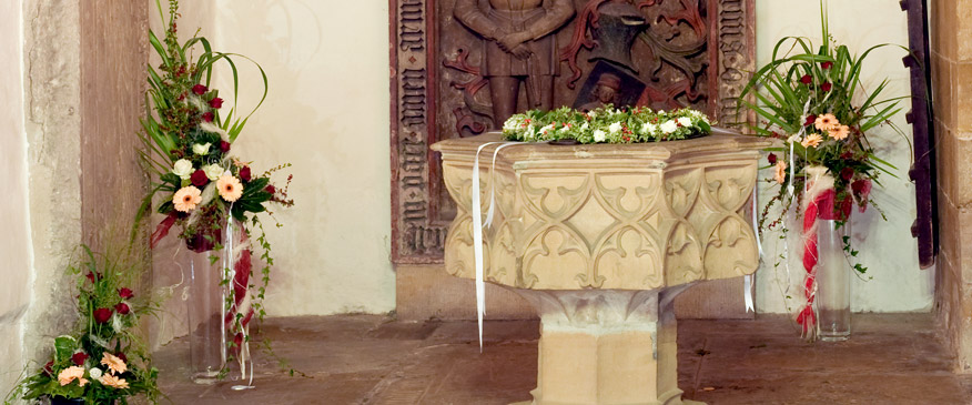 Taufstein in der Augustinerkirche